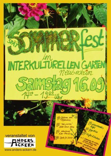 anders ackern Fest interkultureller Garten Neubeckum